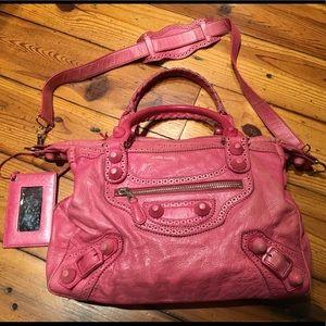 Balenciaga Large Pink Covered Hardware Bag
